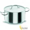 Cacerola alta acero inoxidable capacidad 22 litros medida 36 cm. Toda la pieza (cuerpo, asas y mangos) fabricada en Acero Inoxidable 18/10, para su alta resistencia. Fondo Termodifusor (Inox 18/10 - Aluminio - Inox). Espesor de la base es 0,7 cm para la perfecta difusión del calor. Las tapas diseñadas para el perfecto sellado y el ahorro energético. Apta para todos los tipos de cocina (incluida inducción y horno) * Excepto Ø60 con acabado mate interior y exterior, máxima garantía en cuanto a resistencia, durabilidad e higiene. Esta cacerola alta de 36 cm, es una de las mas utilizadas en restauración. Lo bueno de esta cacerola, como es acero aguante bien los golpes y caídas. Prepare un buen guiso de pulpo o cocer unas buenas alubias con jamón. Se pueden apilar un máximo no muy alto, válido para el lavavajillas. Plazo de entrega sobre una semana para península, para otros destinos le informaremos. Puede darse de alta en la web, para descargar los catálogos.
